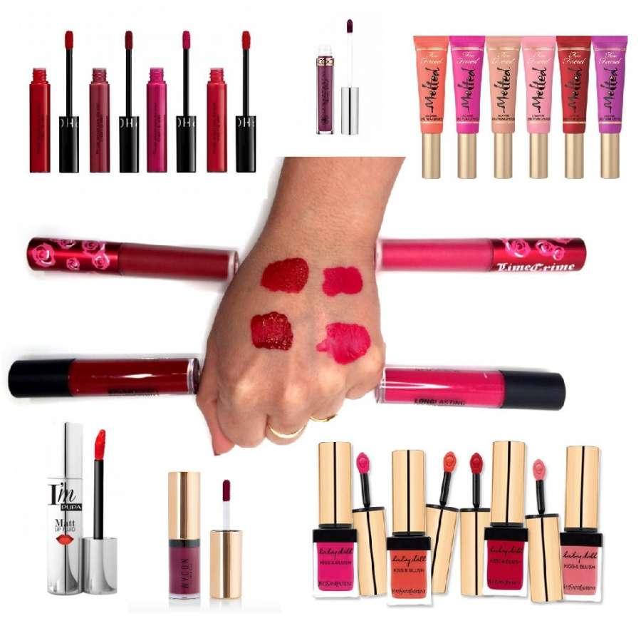 i rossetti liquidi, molto di moda, hanno una formulazione particolare
