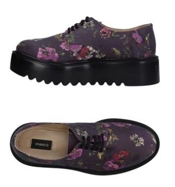 Scarpe stringate a fiori
