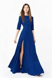 abito blu elettrico in viscosa