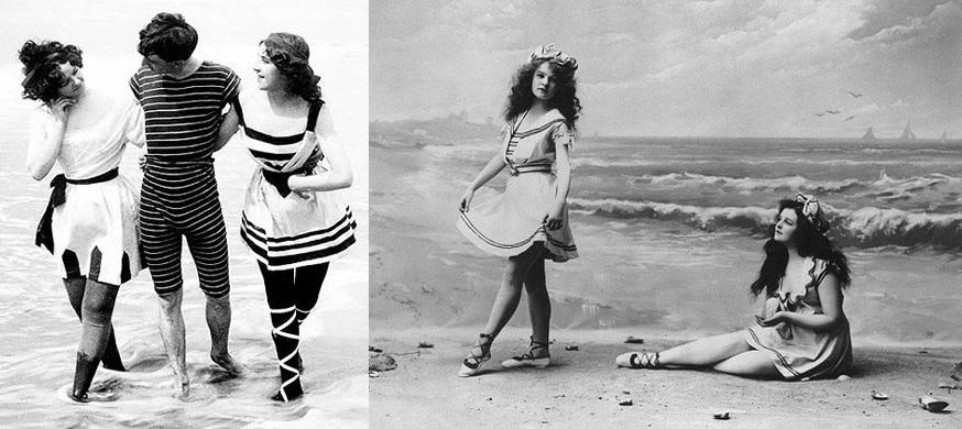 Bellezze al bagno il costume - Costumi da bagno del 1900 ...