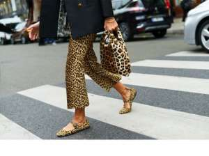 Animalier pantaloni e scarpe